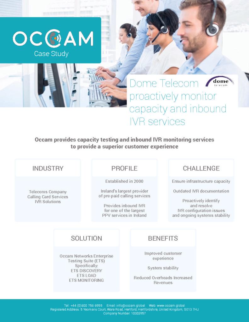 Dome Telecom Case Study