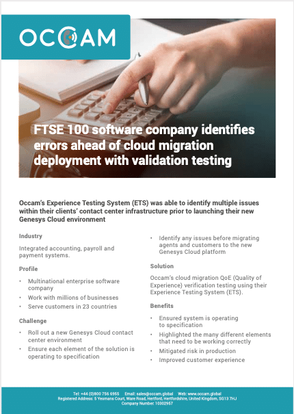 Learn how a FTSE 100 software company uses ETS for load testing of telephony systems